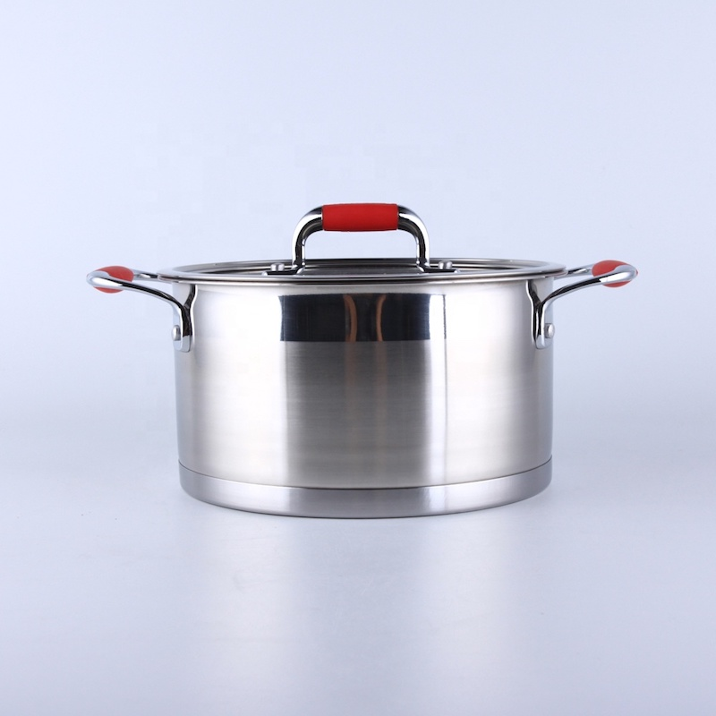 stainless steel casserole with cover