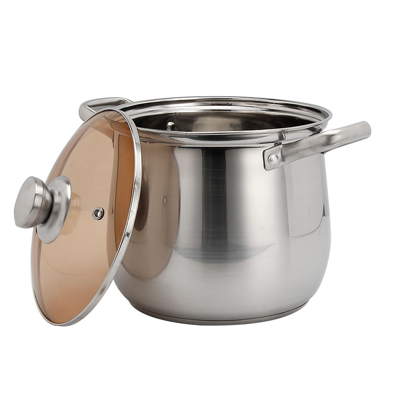stainless casserole with cover