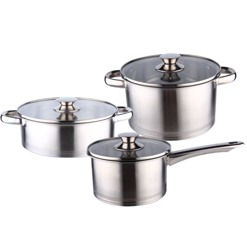 stainless steel casserole set, 3pcs, 5 pcs set