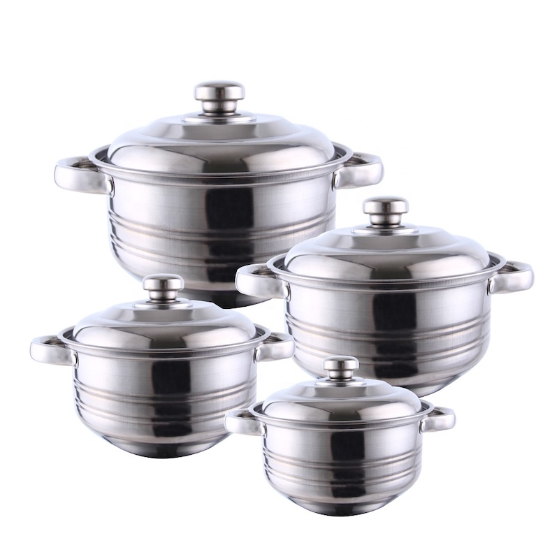 casserole set, 3pcs set, 5 pcs set made of stainless steel